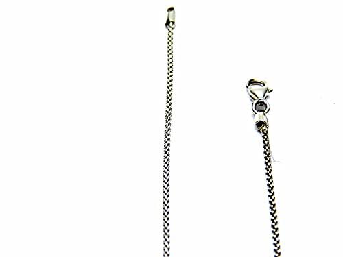 Collana da Donna in Oro Bianco 18kt (750) Catenina Classica Fashion Cm 40