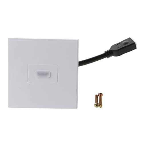 Placa de pared HDMI con soporte de cable corto 3D 4K Ethernet
