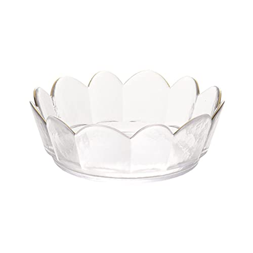 Cuencos Tazón de frutas secas del borde dorado de la vendimia nórdica Cuenco de la ensalada de cristal decorativo del cuenco de la ensalada del bebé Cuencos para postre ( Color : A , Size : Medium )