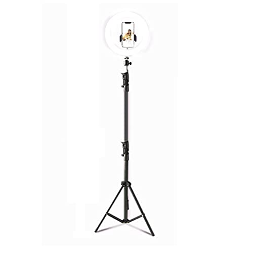 Huaduo Ring Light with Tripod/Round Stand & Mobile Phone & Remote Camera Holder for Live Stream Photography Makeup YouTube