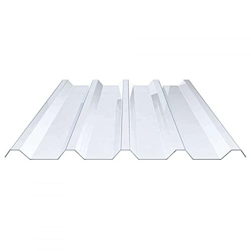 Lichtplatte | Spundwandplatte | Profil 250/50 | Material PVC | Breite 1055 mm | Stärke 1,5 mm | Farbe Klarbläulich