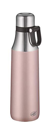 alfi City Bottle Loop Isolier-Trinkflasche, Edelstahl, Rosé, 500ml