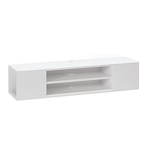 Vicco Lowboard TV-Board Hängeschrank Helvin weiß stehend Wohnwand Hängeboard