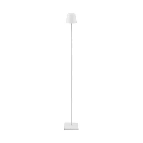 SIGOR Nuindie - Dimmbare LED Akku-Stehlampe Indoor & Outdoor, wiederaufladbar, 24h Leuchtdauer, weiss