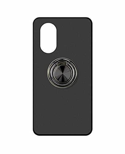 Sunrive Funda Compatible con Huawei Nova 8 Pro 4G, Silicona Mate Gel Carcasa Case Bumper Anti-Arañazos Espalda Cover Anillo Kickstand 360 Grados Giratorio(A2 Negro) + 1 x Lápiz óptico
