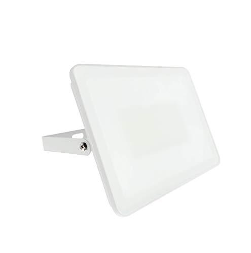 Proyector Foco LED para exterior consumo 10W rendimiento 50W ultra plana slim luz fría diseño moderno Grado Protección IP65