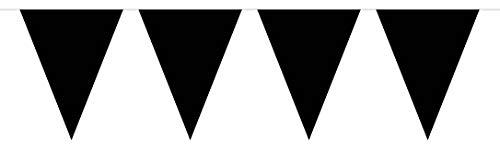 Folat Fanions Noirs Unis XL-10 mètres, 60132