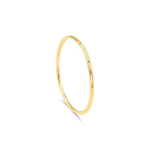 Minimalist Goldring aus 750er Gold. Goldschmuck, 18k Gold | Goldring Damen, Stapelring Damen | Stapelring, Bandring