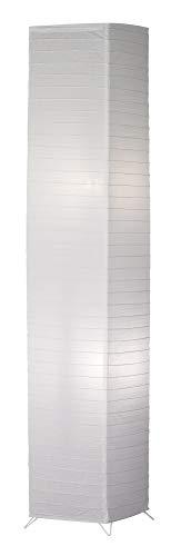 Reality Bamboo -Lampara de pie de papel blanco. Incorporado interruptor de pie. Necesarias 2 Bombillas E27 de máximo 60W excluidas., atenuación