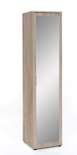 ambiato Kleiderschrank Eiche Sonoma Mehrzweckschrank Spiegelschrank Dielenschrank Garderobenschrank Made in Germany