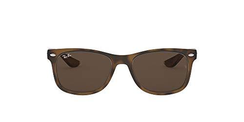 Ray-Ban Junior RJ9052S New Wayfarer Kids Sunglasses, Tortoise/Brown, 48 mm