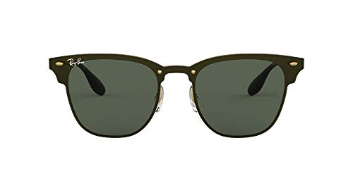Ray-Ban 3576n Gafas de sol, Gold Striped/Graygreen, 47 Unisex-Adulto