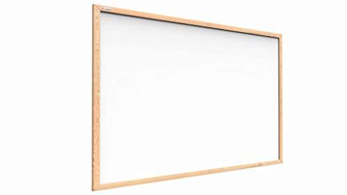 ALLboards Lavagna Bianca Magnetica con Cornice in Legno 120x90cm Scrivibile e Cancellabile a Secco, a Parete