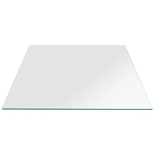 Balder - Tablero para Tapa de Mesa de Cristal Templado de 6 mm - FABRICACION A Medida - para Proteger mesas de Comedor, mesas de Jardin, mesas de Oficina.