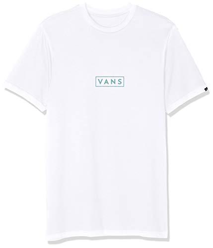 Vans Easy Box SS Camiseta, Blanco (White/Canton Kht), X-Small para Hombre