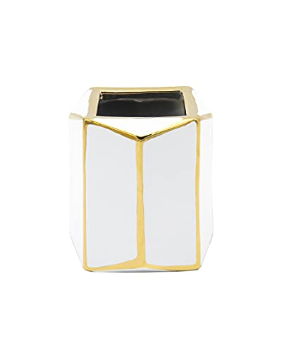 Godinger Aurora Gold Line Square Flower Vase