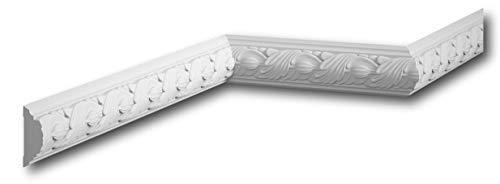 MARDOM DECOR Wandleiste I MDC258 I Friesleiste Stuckleiste Profilleiste zur universellen Gestaltung von Wänden Täfelung und Rahmen I 240 cm x 5,7 cm x 2,2 cm