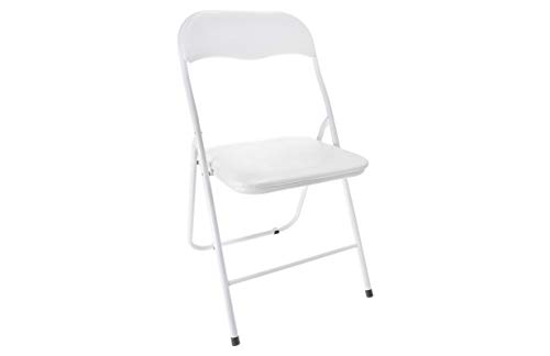 HERSIG - Silla Plegable   Silla Metalica Plegable - Color Blanco
