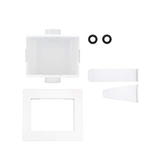 Eastman 60256 Universal Center Drain Washing Machine Outlet Box No Valve, 1/2 Inch, White