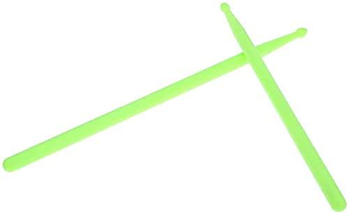 Alnicov - Bacchette fluorescenti, 1 paio di bacchette fluorescenti da 5 A, per batteristi professionisti e principianti (verde)