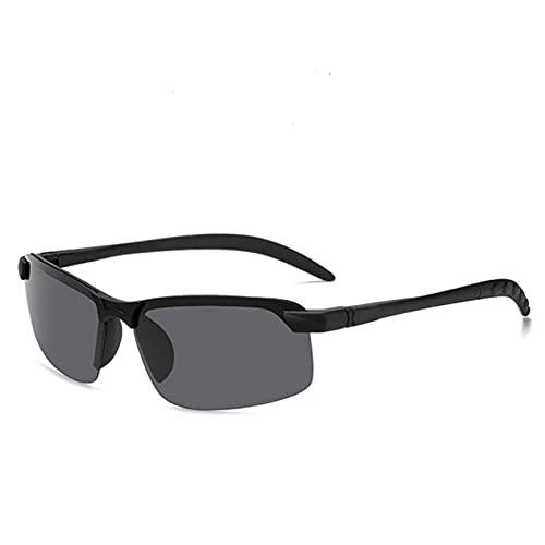 Gafas de Sol polarizadas Inteligentes súper Ligeras para Hombre, Gafas de Sol cuadradas de Aluminio y magnesio, Gafas antideslumbrantes, Gafas para Conducir y Montar
