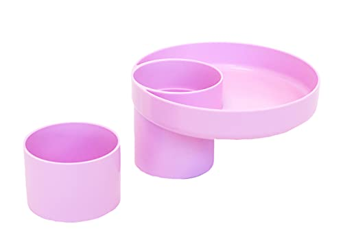My Travel Tray - Made in USA - A Cup Holder Travel Tray for Car Seats, Enjoyed by Toddlers, Kids and Adults! (Lavender)) (Purple)