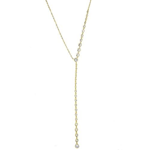 Tianziwen La última moda clásica de oro exquisito colgante largo de la tienda de eslabones, collar largo sexy para la boda de las mujeres, elegante y de moda primera opción para las señoras