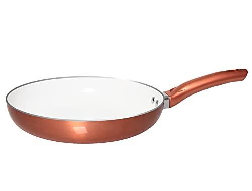 Total EZ 10 Inch Ceramic Nonstick Skillet, Saute Pan, Frying Pan, Egg Pan, Omelet Pan, Nonstick Cookware, Copper