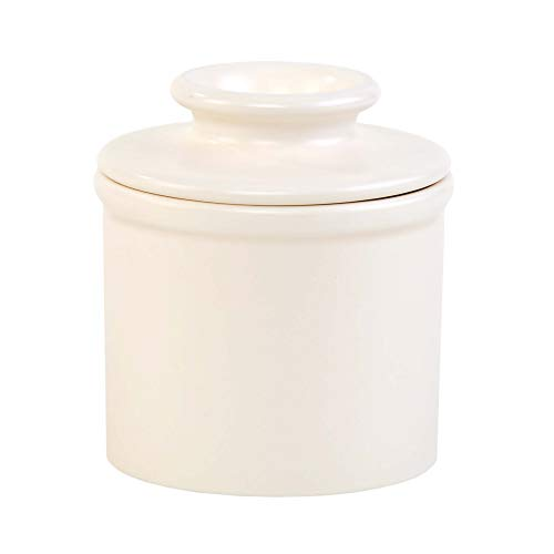Butter Bell - The Original Butter Bell Crock by L. Tremain, French Ceramic Butter Dish, Retro & Matte Collection, Classic Ivory
