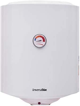 UNIVERSALBLUE - Termo Eléctrico Vertical - Termo Eléctrico 30 Litros - Potencia 1500W - Temperatura hasta 65º - Tanque Esmaltado