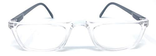 The Felix Rectangle Half Frame Reading Glasses, Unisex Half Rim Readers + 1.50 Clear