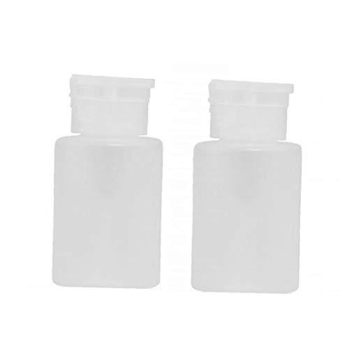 120ml Professional Nail pompe Dissolvant vide Distributeurs de bouteilles en plastique clair cosmétique bouteille vide 2pcs blanc Conteneur