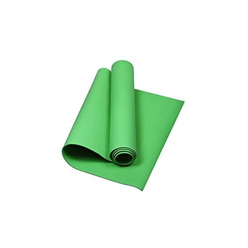 BANLV Colchoneta de Yoga Antideslizante colchoneta de Ejercicios colchoneta de Ejercicio de 4 mm colchoneta de Gimnasia Pilates Verde