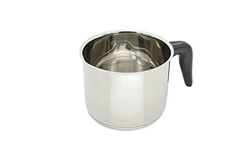 """KRÜGER 2112 Pot au Lait """"Saturn"""" avec Bec 12 cm, Acier Inoxydable, Argent"""