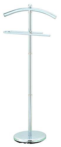 AVANTI TRENDSTORE - Cervia - Servomuto con 2 appendini, in metallo chromato, stabile e resistente, dimensioni: LAP 43x109x28,5 cm
