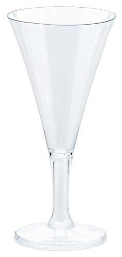 amscan - Juego de 20 Mini Vasos de Cava (plástico, 59 ml)