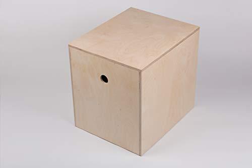 B.A.M. Montage Plyo Box, Sprungbox für Sprungkrafttraining, Jump Box, Sprungkasten aus Multiplex-Holz, Größe LxBxH 580mm x 480mm x 550mm