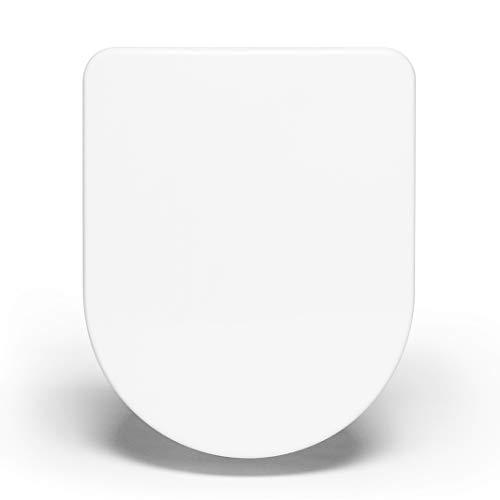 Bullseat® 4.1 WC Sitz weiß D-Form • Absenkautomatik/Softclose • abnehmbar • easyclean • Toilettendeckel überlappend • Klobrille • hochwertiges Duroplast