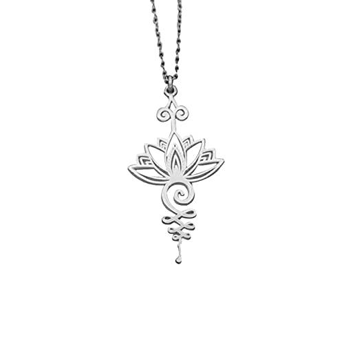 Bartholomew Collar Lotus Radiance para mujeres y niñas, colgante en forma de flor de loto, cadena de cuello, regalo de Acción de Gracias, Navidad, cumpleaños, madre, madre, esposa, amante del yoga