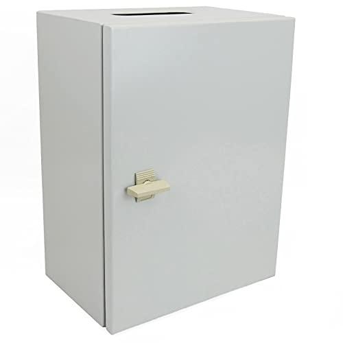 BeMatik - Caja de distribución eléctrica metálica con protección IP65 para fijación a Pared 400x300x200mm
