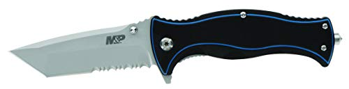 Smith & Wesson M&P Officer 7.25in High Carbon S.S. Ultra Glide Folding Knife with 3.25in Tanto Blade and G10 Handle for Outdoor, Tactical, Survival and EDC