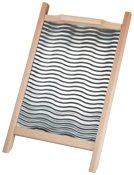HOFMEISTER® Waschbrett Holz, 55 cm, stabil, aus Europa, 1 Stück, Buche, rutschfest, mit Riffelblech, geriffeltes Wäschebrett für die Handwäsche, Kleidung waschen per Wäscheruffel