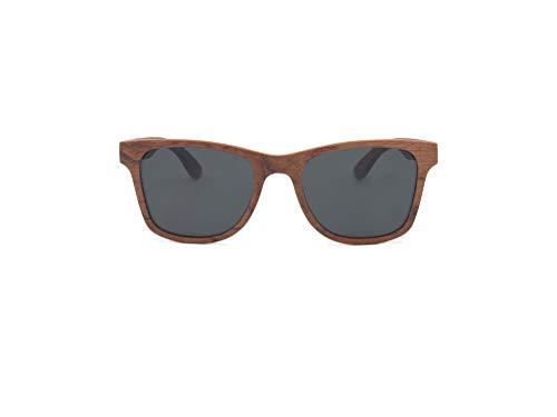 GREEN STUFF Lieke - Die Öko Holz-Sonnenbrille inkl. Etui aus edlem Bambusholz | Damen und Herren | 1 VERKAUFTES PRODUKT = 1 GEPFLANZTER BAUM | (Rosenholz)