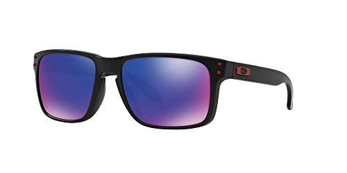 Oakley OO9102 Holbrook Sunglasses with Accessories Bundle (Matte Black/+ Red Iridium (910236)