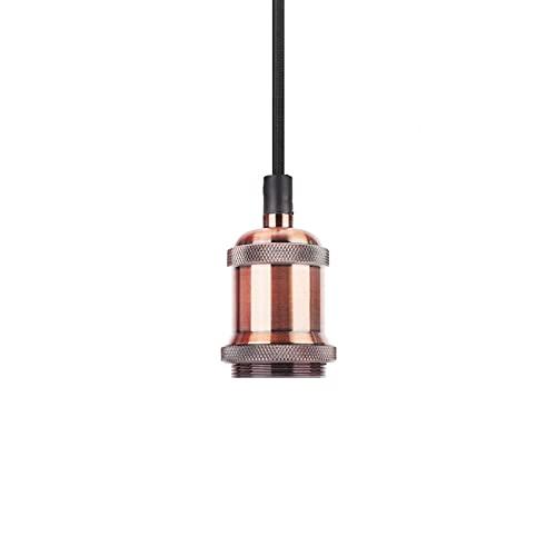 Lámpara Colgante, Lámpara Colgante, Hierro 85-265V para Sala de Estar para Cafetería(Red bronze, Transl)