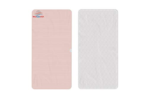WeeCareUSA Reusable 36x72 Incontinence Pads | Washable Underpads Potty Training, Dog Pads, Elderly Incontinence, and Mattress Protection | Ecofriendly 350 Washes | Double Stitched, Easy to Clean: Pink
