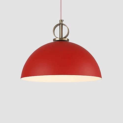 CSSYKV Lámpara Colgante De Metal Lámpara Colgante Moderna Creativa Industrial Nordic Macaron Color Simplicidad Pantalla E27 Base 1 Luz Lámpara Colgante Ajustable para Sala De Estar, Isla De Cocina