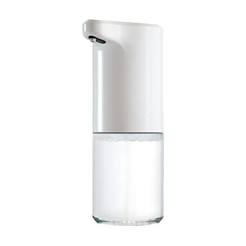 Binn Dispensador de Jabón Botella de jabón dispensador de la Bomba de jabón automático USB Integrado sin Contacto del Sensor Recargable con Pilas de baño Cocina dispensador (Color : White)