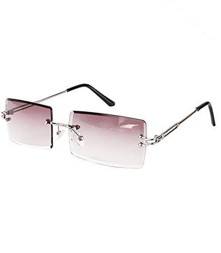 Caripe Sonnenbrille randlos eckig Herren...