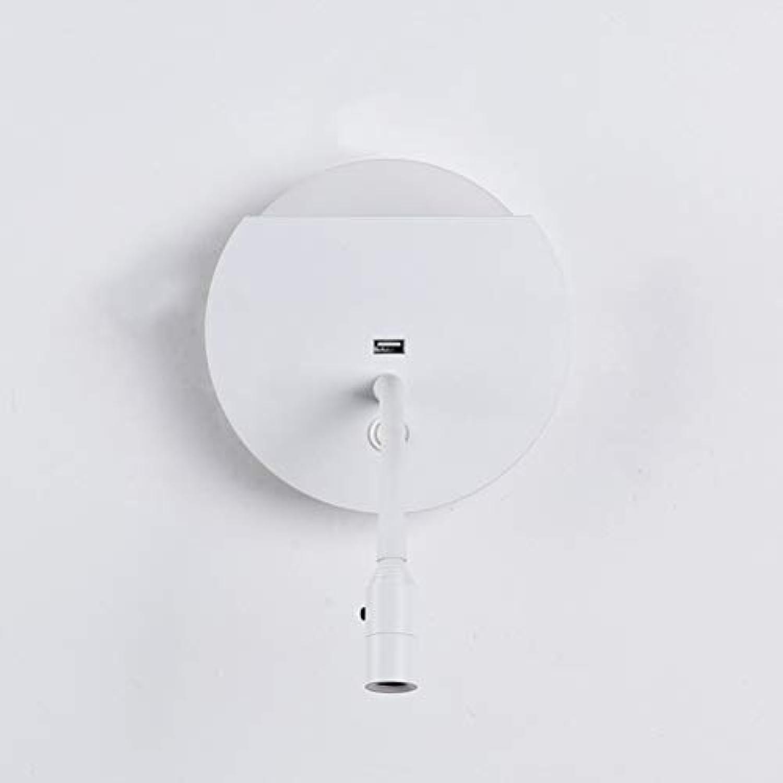 LED Wall Light, LED Light Source, Mit USB Ladehafen, personalisierter Creative Wall Lampe, geeignet für Schlafzimmer, Wohnzimmer, Esszimmer, Hotelzimmer